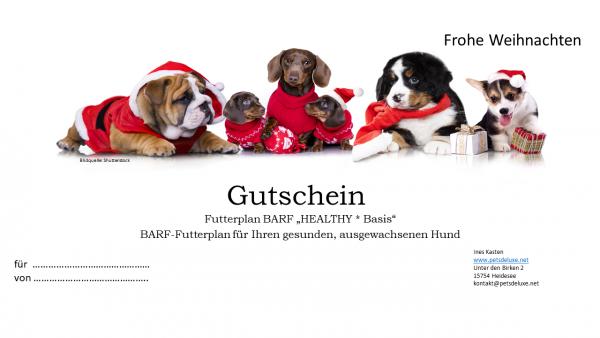 Gutschein BARF-Futterplan HEALTHY * Weihnachten