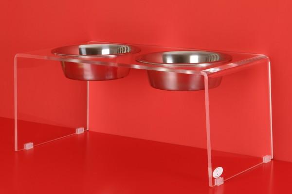 """Futterbar Futterständer Hund """"Exquisit"""", doppelt-2 Näpfe, Größe M"""