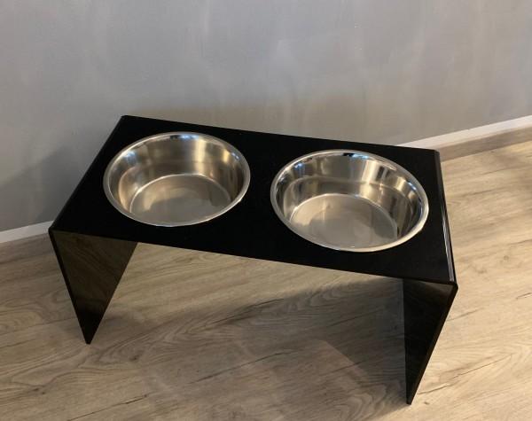 """Futterbar Dog """"Exquisit"""" doppelt black & white"""